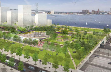Concept Design of Penn Landing Project in Philadelphia